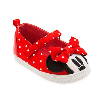 Disney Store Minnie Mouse Red Baby Shoes