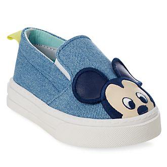 84c50023b Zapatos tejido tipo vaquero Mickey Mouse para bebé