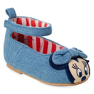 71ee077ed Zapatos tejido tipo vaquero Minnie para bebé