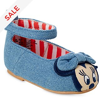 Disney Store Minnie Mouse Denim-Style Baby Shoes