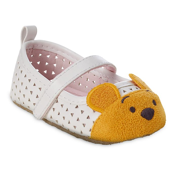 Disney Store Winnie The Pooh White Baby Crib Shoes