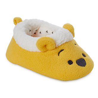 ca6fa78af2ed Disney Store Winnie the Pooh Yellow Baby Slippers