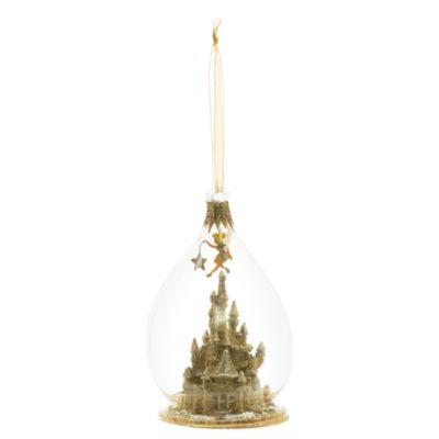 Disneyland Paris - Tinkerbell Zauberschloss Weihnachtsbaumkugel aus Glas