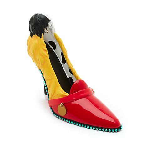 Disney Parks Cruella de Vil Miniature Shoe Ornament, 101 Dalmatians
