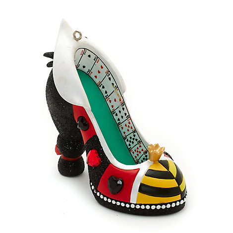 Disney Parks Queen of Hearts Miniature Shoe Ornament, Alice in Wonderland