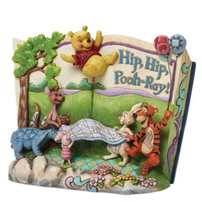 Disney Traditions Winnie the Pooh Hip Hip Pooh-Ray Figurine