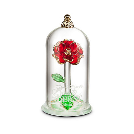 Arribas Glass Collection, Beauty and the Beast Glass Dome Ornament