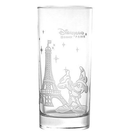 Arribas Glass Collection Mickey And Eiffel Tower Long Glass
