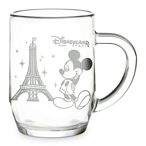 Arribas Glass Collection, Micky And Eiffel Tower Glass Mug
