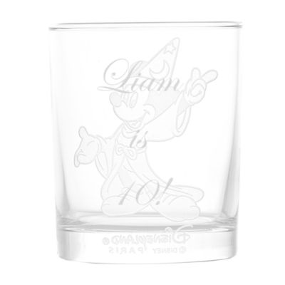 Arribas Glass Collection, Sorcerer Mickey Glass Tumbler
