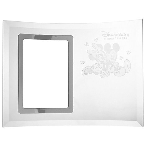 Arribas Glass Collection, Mickey And Minnie Mouse Romance Photo Frame