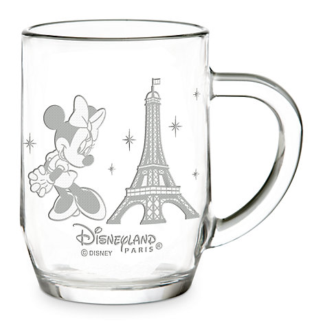 Arribas Glass Collection, Minnie And Eiffel Tower Glass Mug
