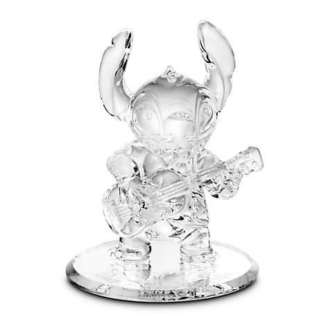 Arribas Glass Collection, Stitch With Guitar Miniature Figurine
