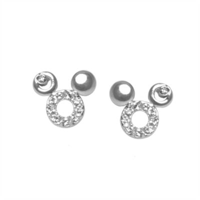Mickey Mouse Head Stud Earrings, Arribas Jewelled Collection