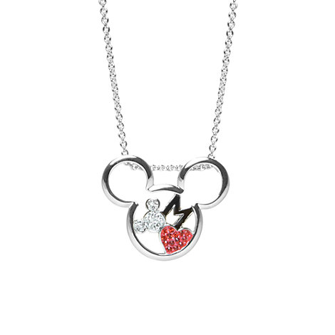 Mickey Mouse Necklace, Arribas Jewelled Collection
