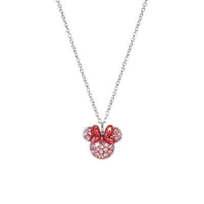 Minnie Mouse Pink Icon Necklace, Arribas Jewelled Collection