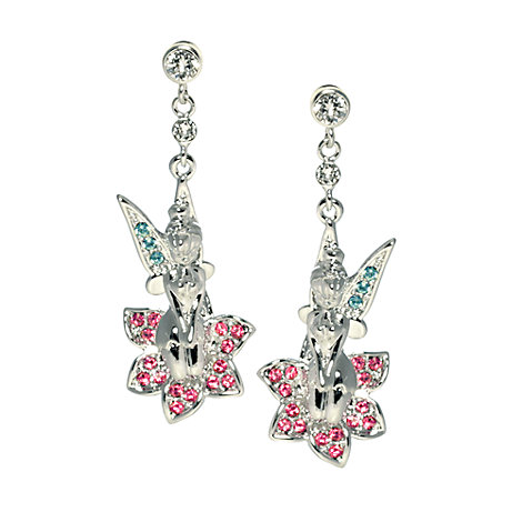 Tinker Bell Flower Earrings, Arribas Jewelled Collection