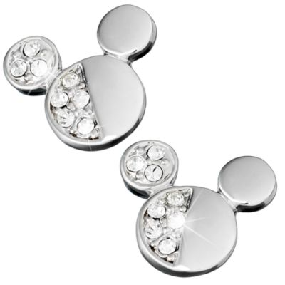 Mickey Mouse Half Crystal Icon Earrings, Arribas Jewelled Collection