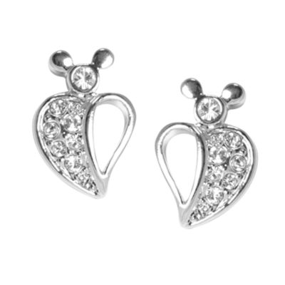 Mickey Mouse Half Heart Earrings, Arribas Jewelled Collection