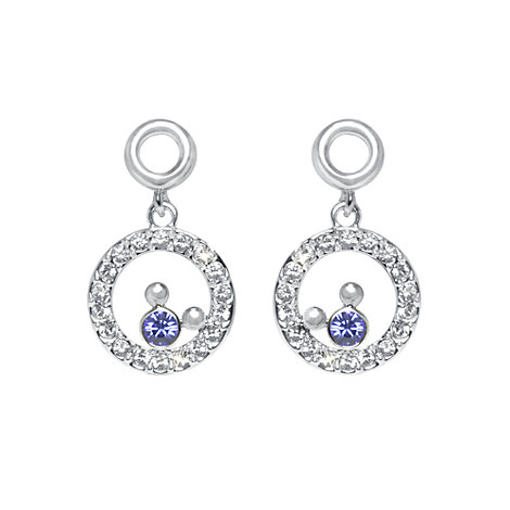 Mickey Mouse Circle Earrings, Arribas Jewelled Collection