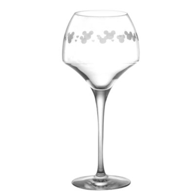 Mickey Mouse Wine Glass, Arribas Glass Collection