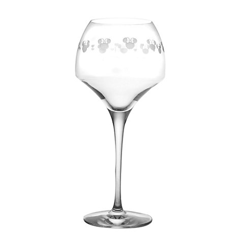 Minnie Mouse Wine Glass, Arribas Glass Collection