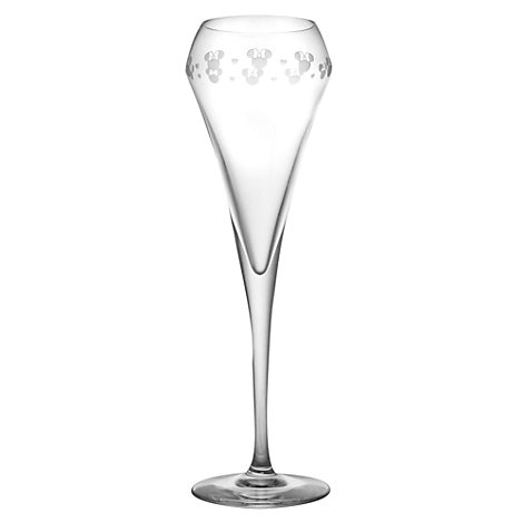 Minnie Mouse Brio Champagne Flute, Arribas Glass Collection