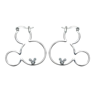Mickey Mouse Icon Hoop Earrings, Arribas Jewelled Collection