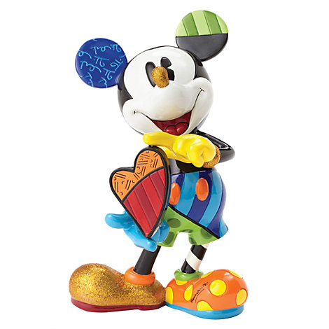 Britto Mickey Mouse Rotating Heart Figurine