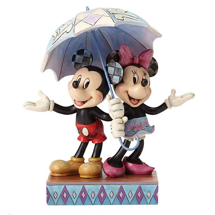 Disney Traditions Rainy Day Mickey and Minnie Figurine