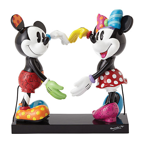 Britto Mickey and Minnie Mouse Heart Figurine