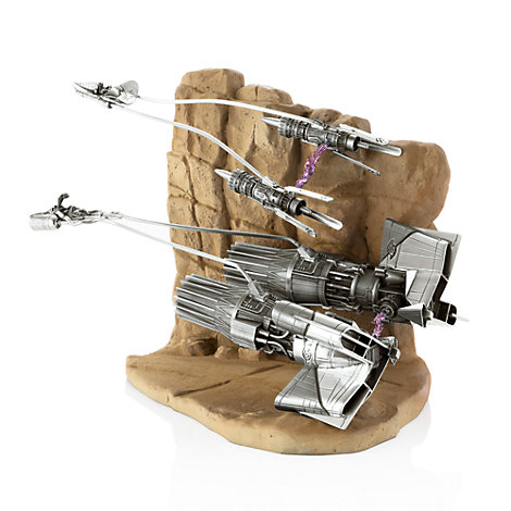 Royal Selangor Limited Edition Pewter Podracer Diorama, Star Wars: Episode 1 The Phantom Menace