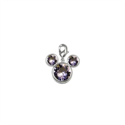 Arribas Brothers Mickey Mouse Birthstone Charm, February