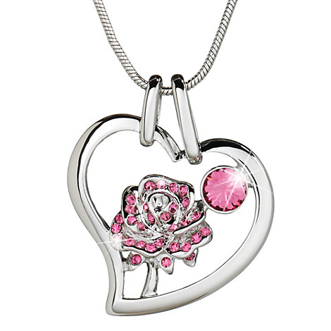 Arribas Brothers Crystal Rose Necklace
