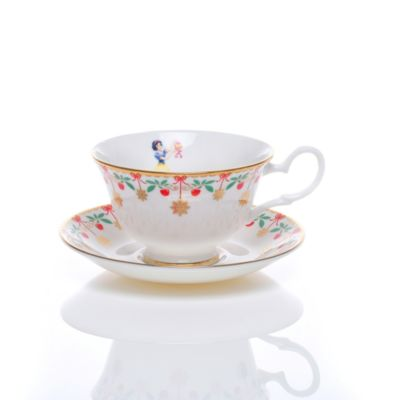 English Ladies Co. Bone China Snow White Tea Cup and Saucer