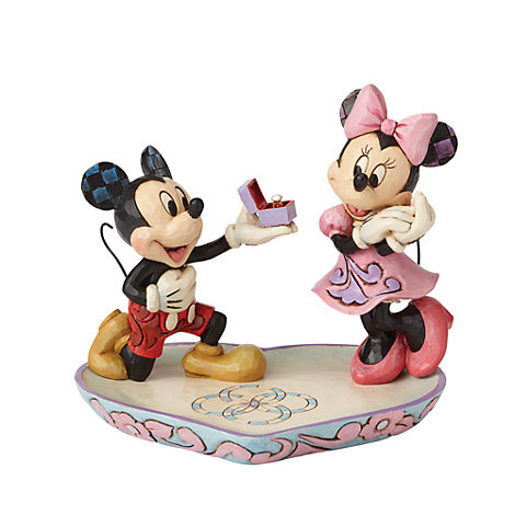 Disney Traditions Minnie and Mickey Magical Moment Figurine