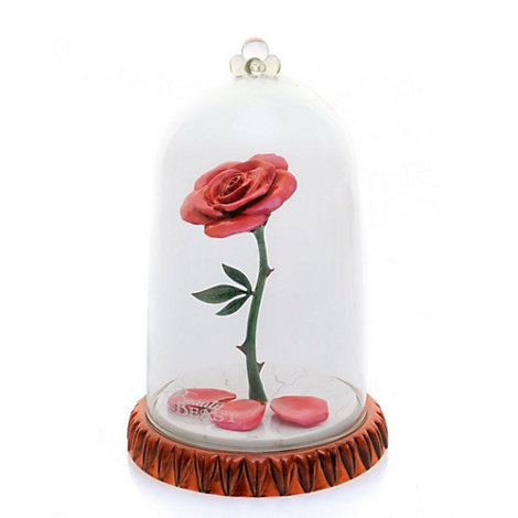 English Ladies Co. Bone China Enchanted Rose Dome Figure, Beauty And The Beast