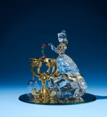 Arribas Glass Collection Belle Ornament, Beauty And The Beast