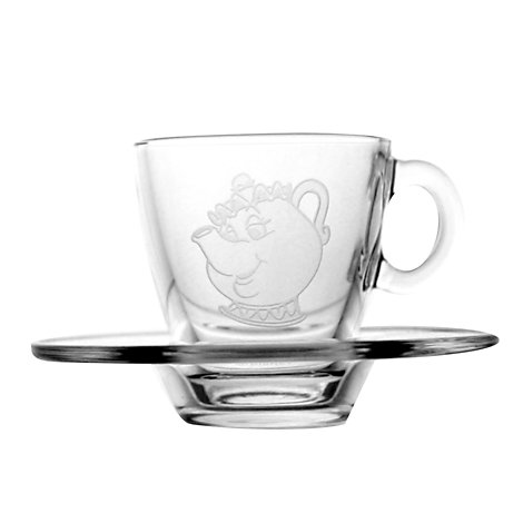 Arribas Glass Collection, Mrs. Potts Cup and Saucer