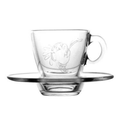 Arribas Glass Collection, Chip Cup and Saucer