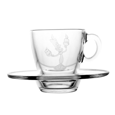 Arribas Glass Collection, Lumière Cup and Saucer