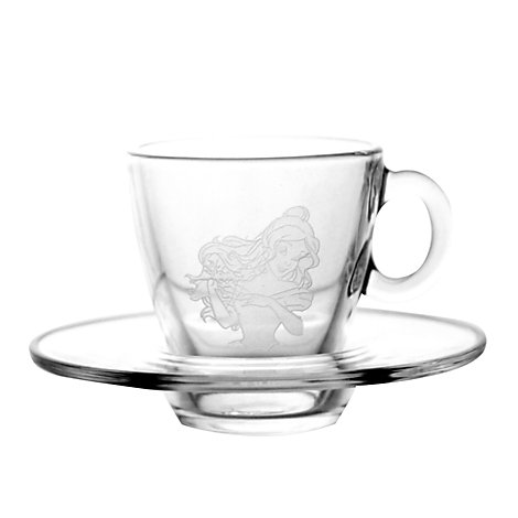 Arribas Glass Collection, Belle Cup and Saucer