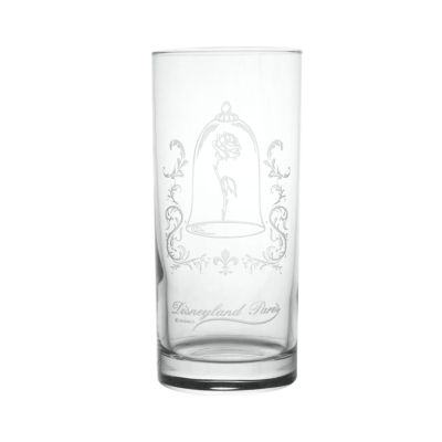 Arribas Glass Collection, Beauty And The Beast Rose Dome Long Glass