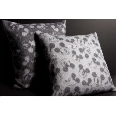 Mickey Mouse Dark Grey Lambswool Cushion