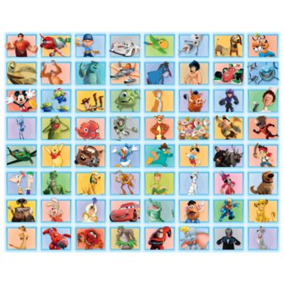 Disney Classic Characters 64 Piece Blue Collage Kit