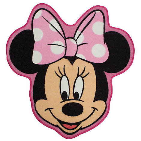Minnie Mouse Shaped Floor Rug