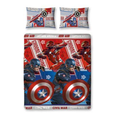 Captain America: Civil War Double Rotary Duvet Cover Set