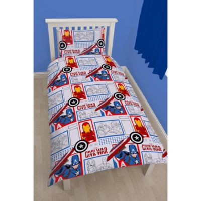 Captain America: Civil War Single Rotary Duvet Cover Set