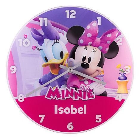Minnie Mouse And Daisy Duck Analogue Wall Clock