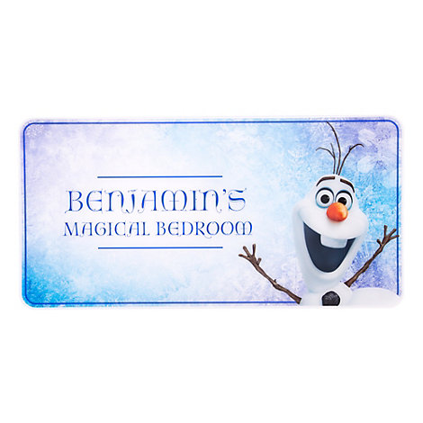 Olaf Personalised Room Sign, Frozen